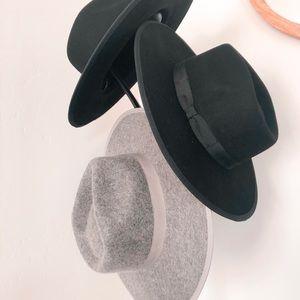 ✨NEW✨Born To Be Wild | Wool Fedora Hat Black &Gray